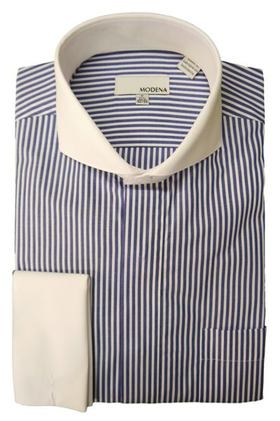 Black And White Striped Mens Dress Shirt
