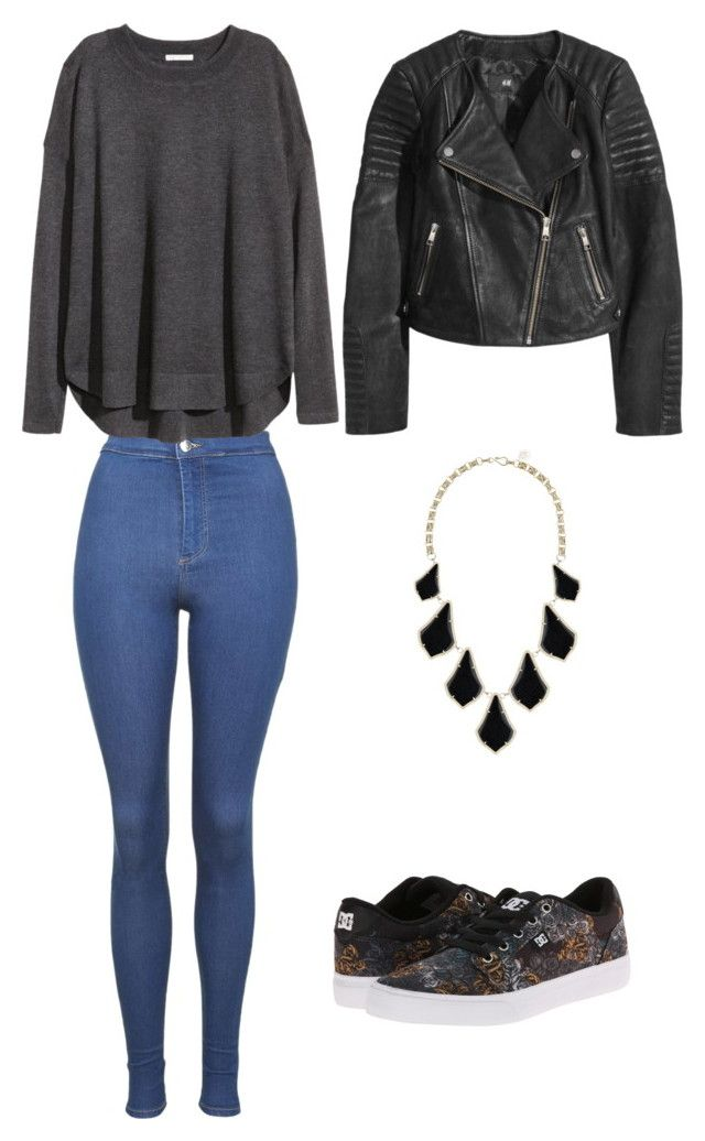 """""""R3"""" by laurrao on Polyvore featuring Topshop, DC Shoes, H&M and Kendra Scott"""