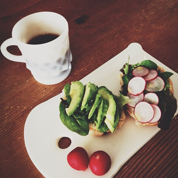 radish, avocado & fresh herbs sandwich | Recipes | Pinterest