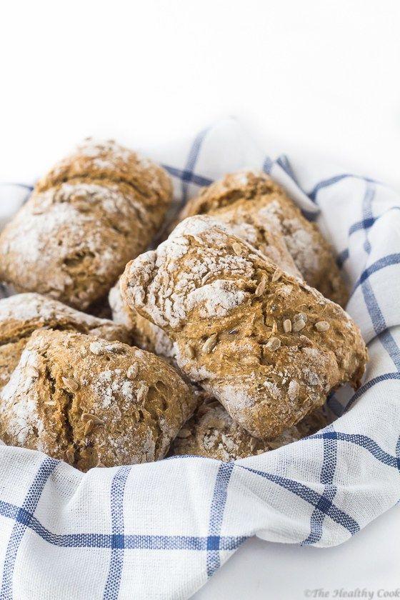 No-Knead Barley Bread with Seeds – Κρίθινο Σπιτικό Ψωμί χωρίς Ζύμωμα, με Σπόρους - The Healthy Cook
