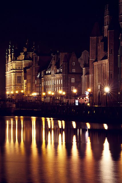 Gdańsk's Old Town from the Motława River - Poland