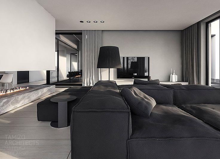 Projekt wnętrz domu jednorodzinnego q-house, Grudziądz   Tamizo Architects