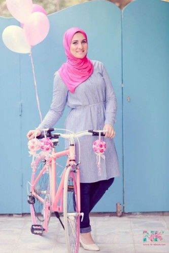 tunic hijab fashion, Cute pastel hijab for spring http://www.justtrendygirls.com/cute-pastel-hijab-for-spring/