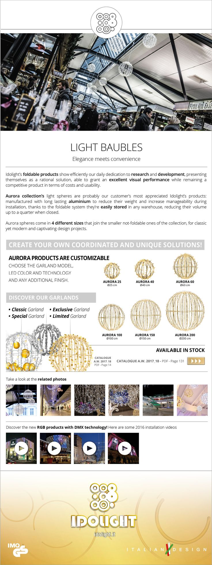 Aurora foldable spheres: create your own coordinated and unique solution!  #idolight #LightSolutions #madeinitaly #italiandesign