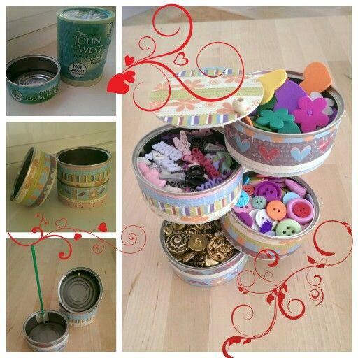Reciclando latas de Atun