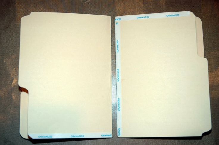 Make a fabulous journal/book from file folders and tags.