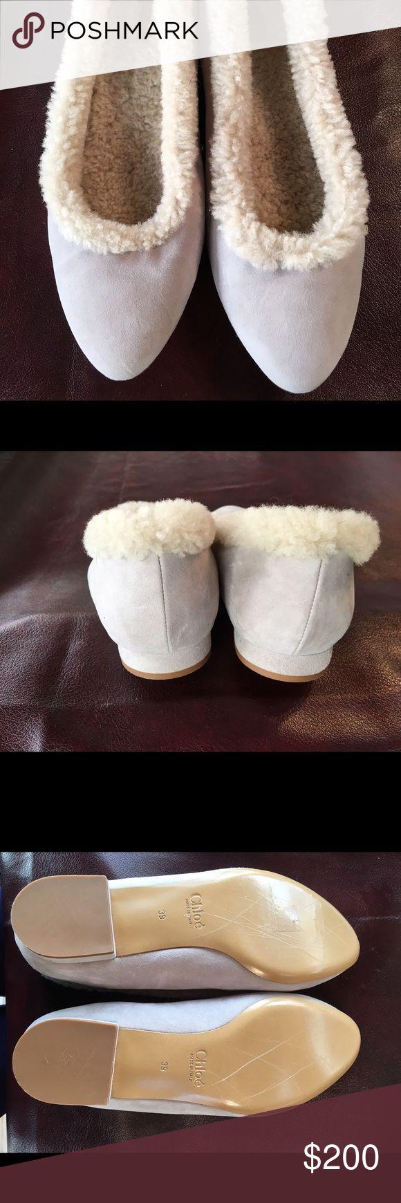 Chloe brand new slippers Gorgeous never worn size 39 Chloe slippers with faux fur. Chloe Shoes Slippers