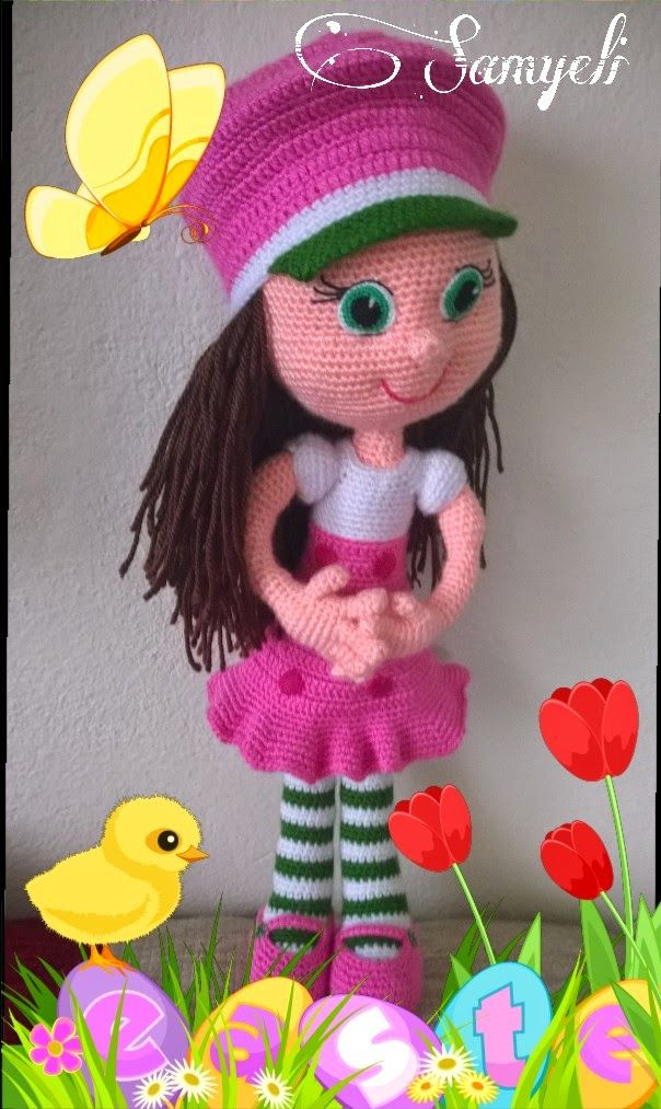 Samyelinin Örgüleri: Annemin Çilek Kızı-strawberry Girl-çilek kız-amigurumi