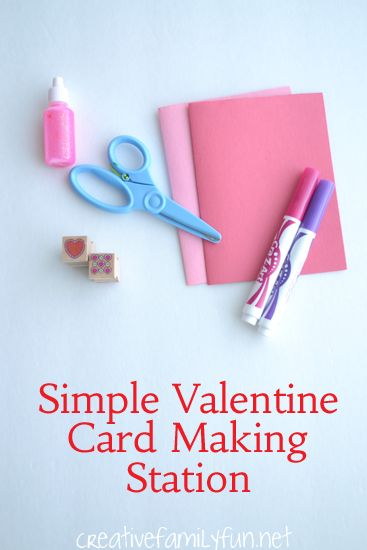 Setting up a Valentine Card Making Station for your kids is so easy. Here are the tips and supply list you need to get started.