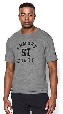 Men's  Under Armour Vintage Basketball T-Shirt - Shop for women's T-shirt - Grays x True Gray Heather/Black T-shirt
