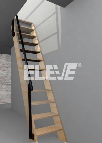 Son escaleras que ocupan poco espacio.
