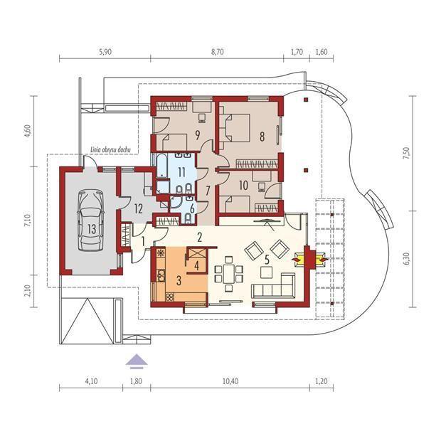 O casă de vis cu garaj in suprafată de 136 m². Interiorul te va cuceri.
