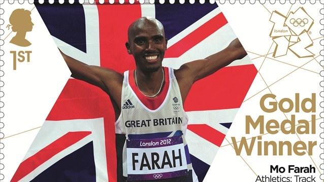 Mo Farah gold stamp