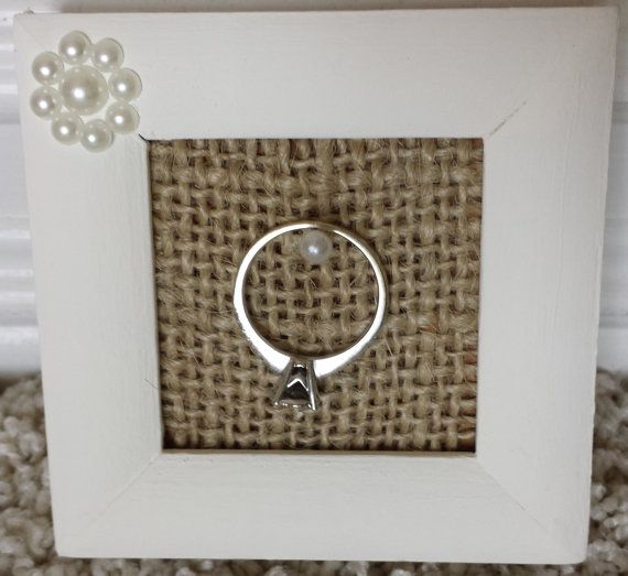 Ring Holder Frame / Ring Storage by RiversToSea on Etsy, $11.00 #BeachWedding