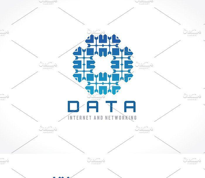 Data Internet And Network Logo Internet Data Network Templates Templates Data Data Network