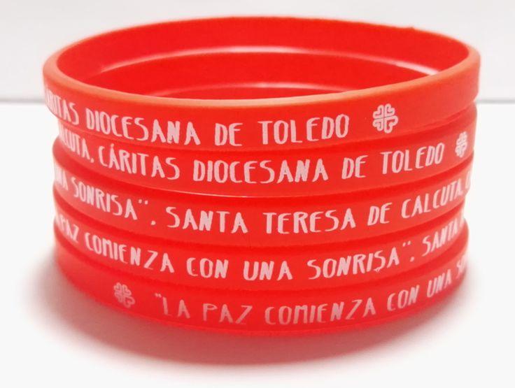 Pulseras de silicona personalizadas religiosas #santateresadecalcuta #caritas