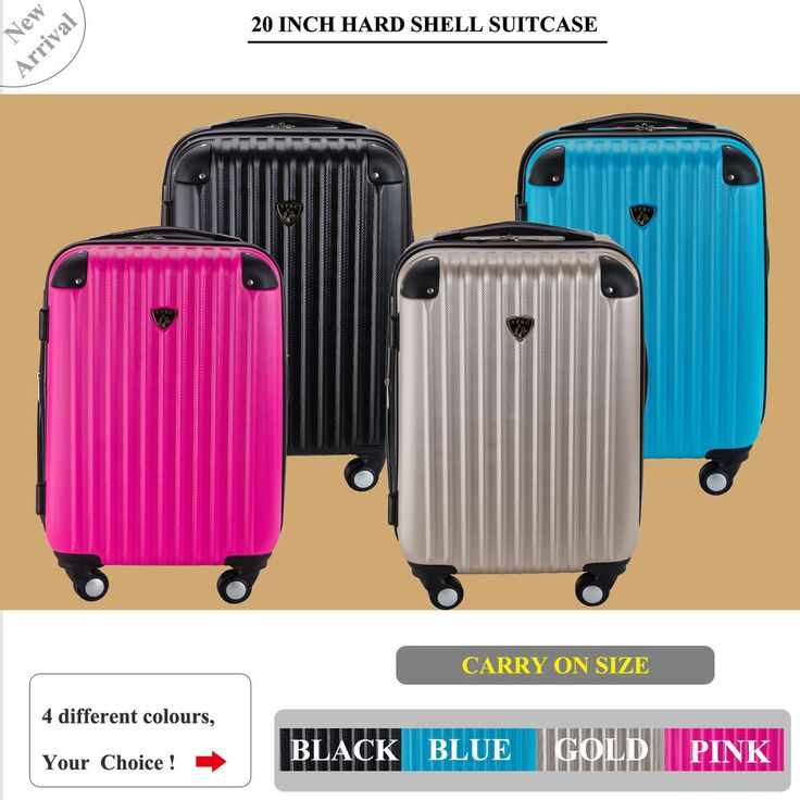 20 Inch (40L ) Suitcases Luggage Trolley Travel Bag Cabin Carry on hard case