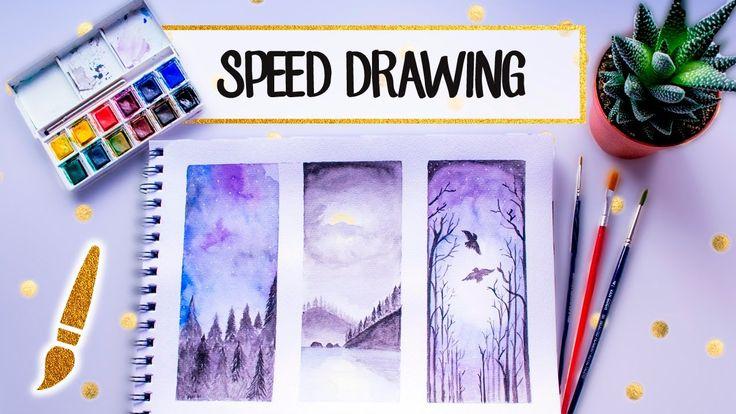 Speed Watercolor Drawing - A dibujar #09