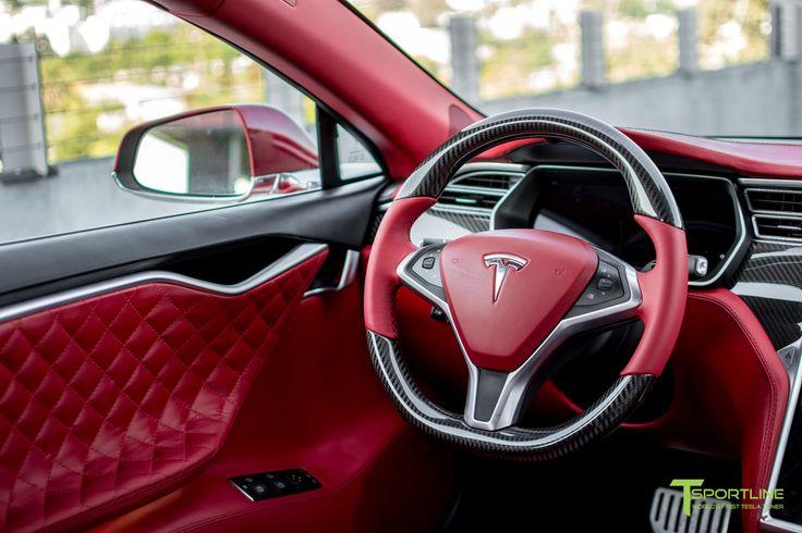Tesla Gloss Carbon Fiber Steering Wheel Tesla Model S Tesla Model Steering Wheel