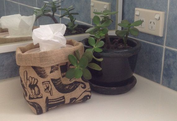 Handmade hessian bags perfect for potted indoor plants by Happyhessian, $10.00