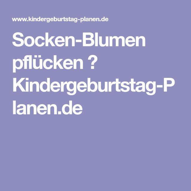 Socken-Blumen pflücken ⋆ Kindergeburtstag-Planen.de