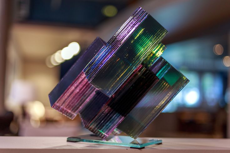 """Meteorite"" Layered glass art and glass design by Ernest Vitin, Riga, Latvia. Ernesta Vītiņa stikla māksla un stikla dizains. Искусство из стекла, Стеклянные скульптуры"