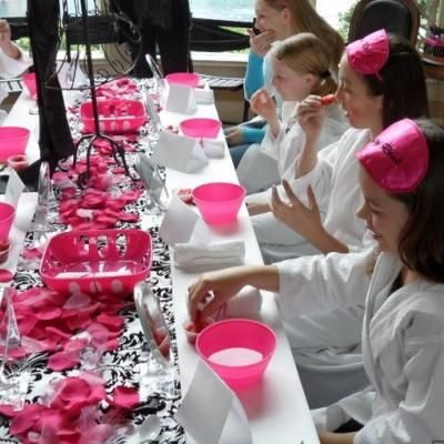 "Spa Party for little girlies - could incorporate this with Abby's Paris Party in preparation for the ""Cat Walk"""