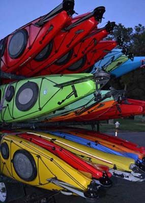wilderness systems kayaks used for practice runs