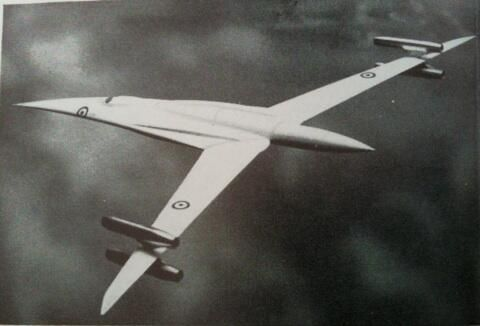 Vickers Swallow variable-geometry supersonic military aircraft concept 1961.
