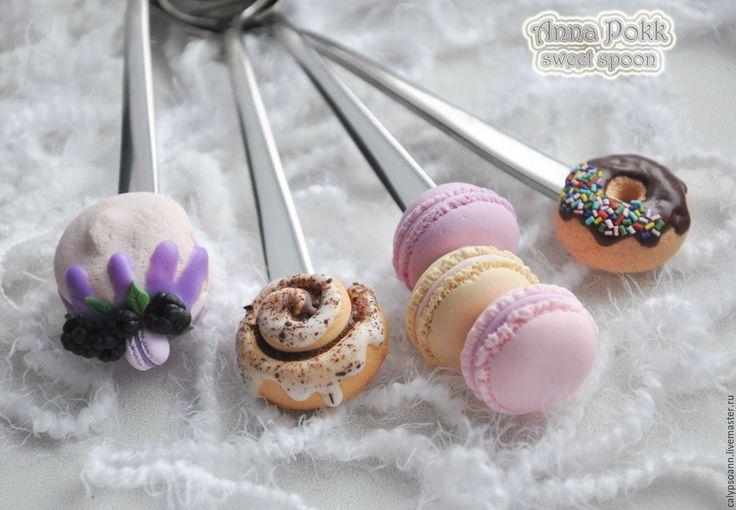 Купить Вкусные ложки - комбинированный, вкусныеложки, вкуснаяложка, синабон, пончик, анна покк, полимерная глина