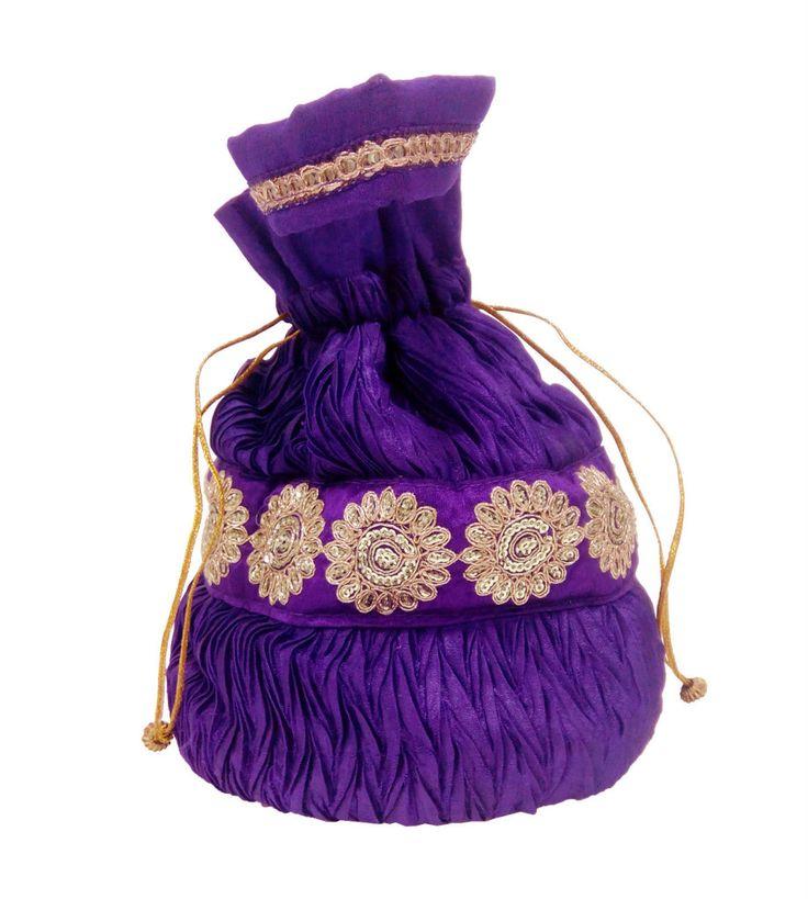 A bright color potli bag, very attractive