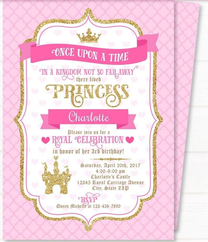 FREE Printable Royal Princess Party Invitation Party Ideas