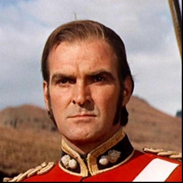 Stanley Baker as Lieut. John Merriott Rouse Chard R.E. in Zulu.