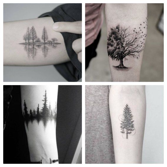 20 Disenos De Tatuajes De Arboles Y Su Significado Mini Tatuajes Tatuaje Arbol Tatuajes