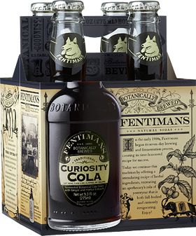 "Fentimans Curiosity Cola: ""Indulge your curiosity with our stimulating recipe of herbal ingredients. Recreating an apothecary's cola of yesteryear. The result is a full-bodied, ginger infused traditional Cola that is curiously invigorating! Are you curious? Give one a try!"""