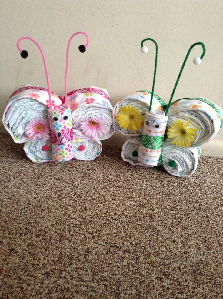 Butterfly Diaper Cakes