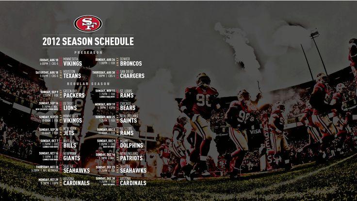2012 San Francisco 49ers Schedule Wallpaper | Charlie Lyons-Pardue