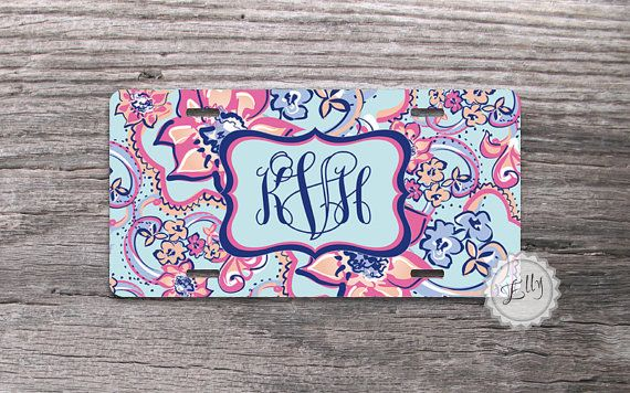 Monogram License Plate Lilly Flowers Car License Tag  by Monogram Case, $16.99