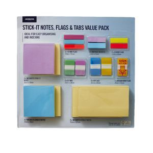 J.Burrows Stick-it Notes, Flags and Tabs Value Pack