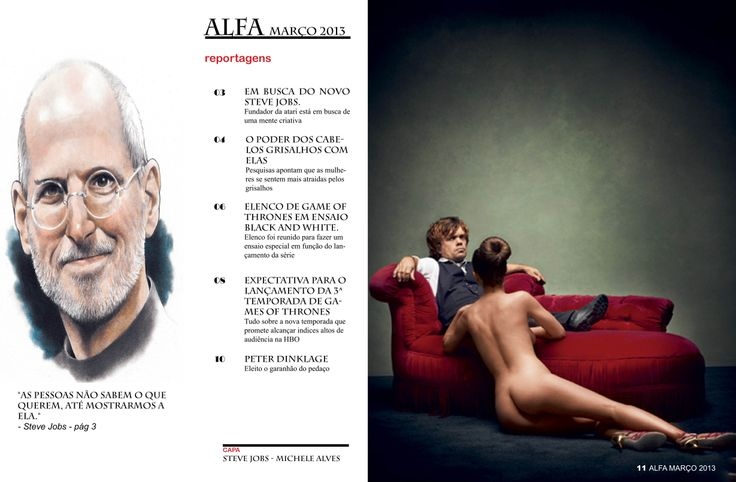 Parte Interna  - revista feita no adobe Indesign nos padrões da revista Alfa