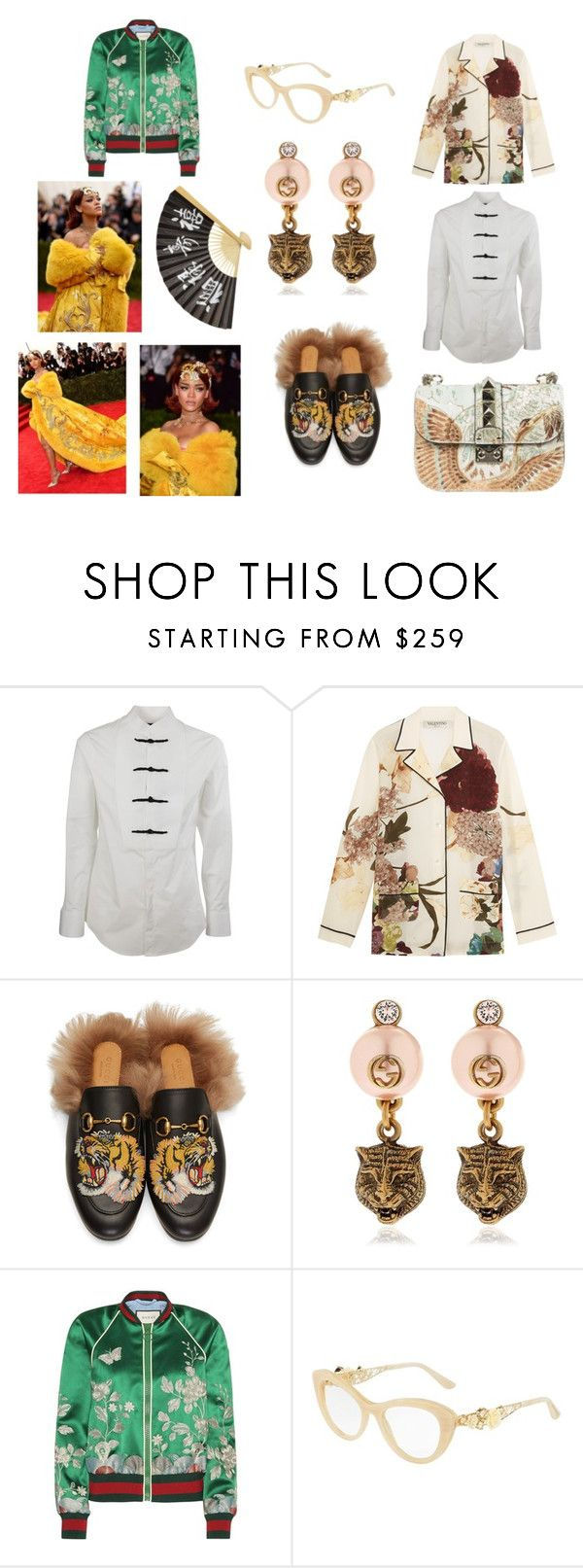 """""""asian influence"""" by skybluepatricia on Polyvore featuring Dsquared2, Valentino, Gucci, Dolce&Gabbana and GALA"""