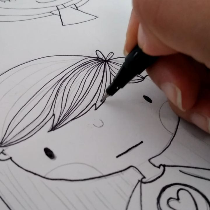 Doll Hand Drawing Video Mariapalito Studio In 2020 Hand Drawing Video How To Draw Hands Drawing Videos