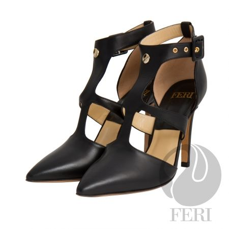 FERI - ALESSANDRA - SHOES - Black  Price                                  $936 Canadian Dollars Product #                           FSH-5852 Product Category              FERI Shoes - Napa leather pump with stiletto heel - Napa leather sole and insole - Colour: Black - FERI logo hardware on sole and front of ankle - Heel height: 4.5 inches Invest with confidence in FERI Designer Lines.                                                                                               Perches from…