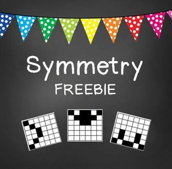 FREEBIE! This is a fun symmetry worksheet. Complete the blocks to create a symmetrical pattern. Answer key included. Common Core Aligned: 4.G.3