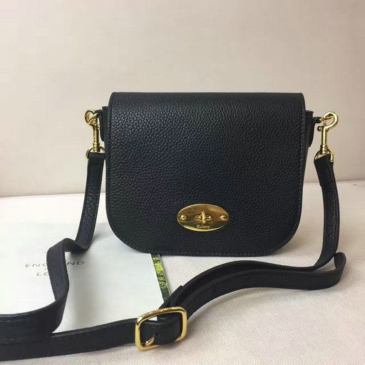 2017 Spring Mulberry Small Darley Satchel in Black Small Classic Grain Leather