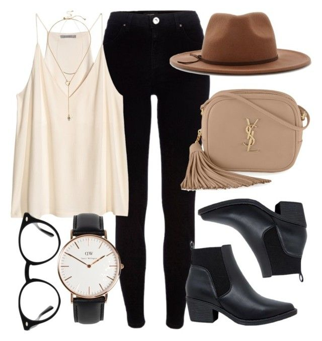 Untitled #5575 by laurenmboot on Polyvore featuring polyvore, fashion, style, River Island, Yves Saint Laurent, Daniel Wellington, Zimmermann, Warehouse, Forever 21, Ray-Ban and clothing