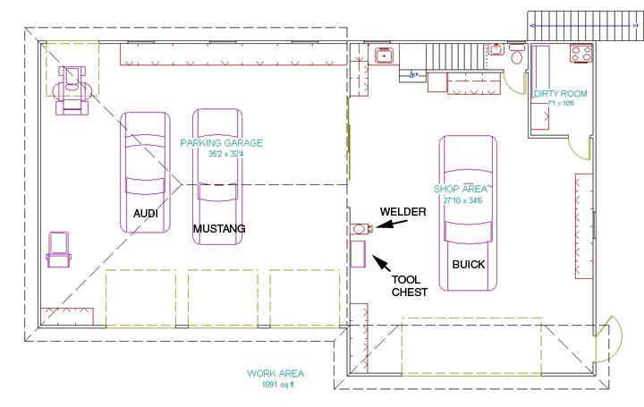 21 Surprisingly Garage Workshop Floor Plans Floor Plans Garage Workshop Garage Plan
