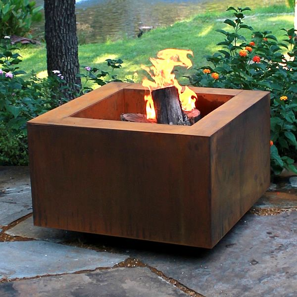 outdoor wood burning fire pits 2