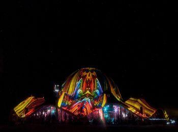 Night Projection fényfestés - Ozora Feszt 2014