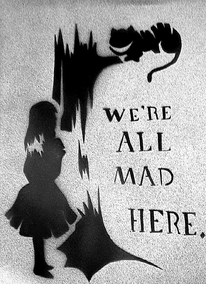 1000 images about we 39 re all mad here on pinterest cheshire cat alice in wonderland and big. Black Bedroom Furniture Sets. Home Design Ideas